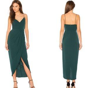 Shona Joy Seaweed Cocktail Draped Dress US Size 6
